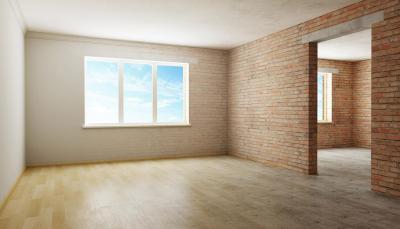 Стены квартиры не штукатурятся.